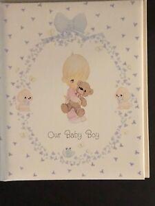 Precious Moments OUR BABY BOY Memory Photo Keepsake Album Book Unused in Box