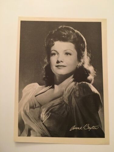 S11) Vintage 1946 Anne Baxter Actress 7x10 Publicity Biography Photograph
