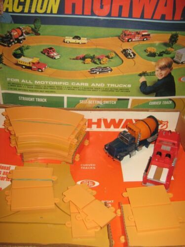 motorific highway Ideal 77 with trucks firetruck and cement chassis motor track