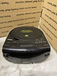 Sony ICF-CD814 Dream Machine AM/FM Alarm Clock Radio CD Player Tested And Works