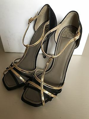 New $630 Versace Collection Women's Shoes Black 9 US ( 39 Eur ) Spain