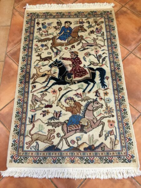 Handmade Stani Wool Silk Hunting Rug Size 225 X 77 Cm Rugs Carpets Gumtree Australia Victoria Melbourne Region 1175302694