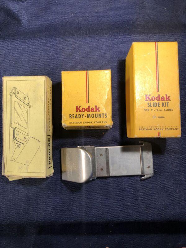 Vintage Slide Ready Mounts, Kodak Slide Kit, Proloc Locking Lever
