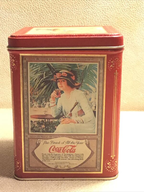 """Coca-Cola Tin """"The Drink of All the Year"""""""