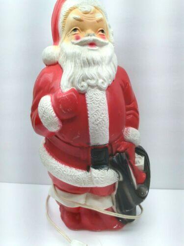 "Vintage 1968 Empire Santa Claus Lighted Plastic Blow Mold 13"""
