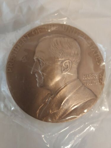 """Harry S. Truman Large 3"""" Heavy Bronze Presidential Inauguration Medal 1945"""