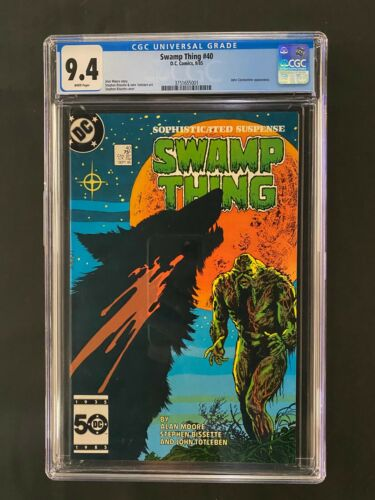 Swamp Thing #40 CGC 9.4 (1985) - John Constantine appearance