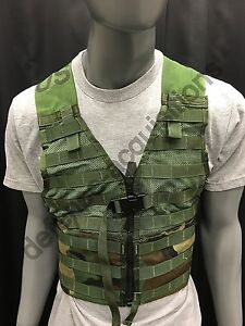 US Military Fighting Load Carrier FLC Tactical Vest Woodland Camo MOLLE II BB GC