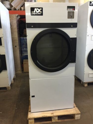 AD24 Coin or Card Operated Double Load 20lb Dryer, Used