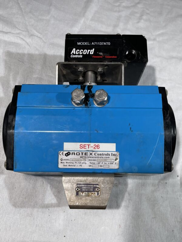 Rotex Controls ECV100SR W/ Flowserve Apex 7000 Electro Pneumatic Positioner