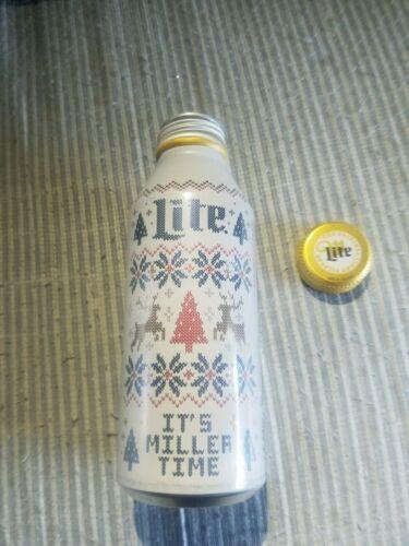 Miller Lite 2019 Christmas Limited Edition aluminum beer bottle