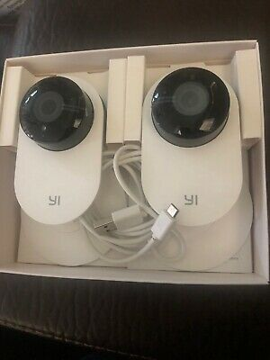 Yi - Home Camera - Family Pack 2 In 1- 720p HD / Infrared Night Vision Open Box