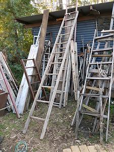 3.3m long vintage ladder Joyner Pine Rivers Area Preview