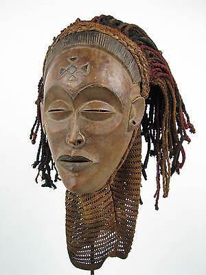 GothamGallery Fine African Art - DRC / Zaire Chokwe PWO Tribal Mask H