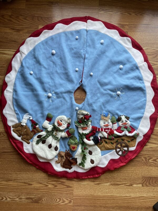 Snowman Christmas Tree Skirt