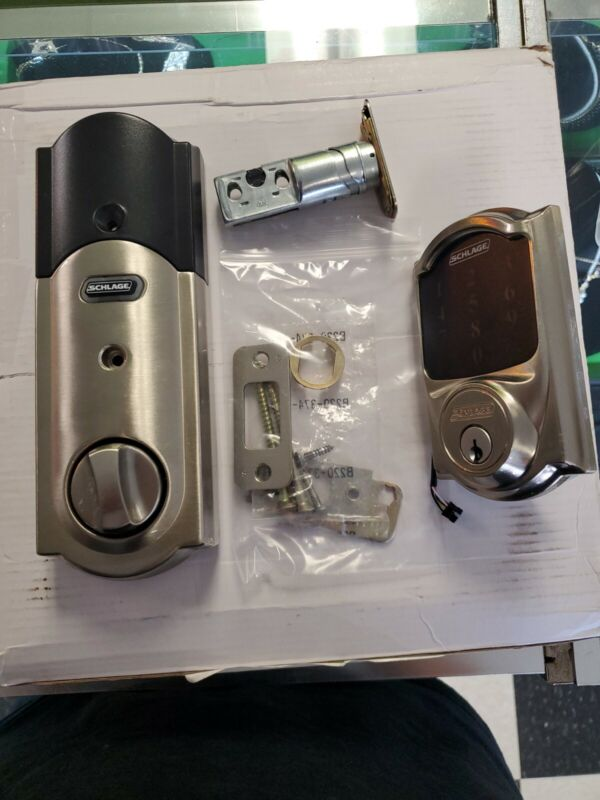 Schlage Connect BE469ZP CAM 619 Smart Deadbolt for Parts Only missing key