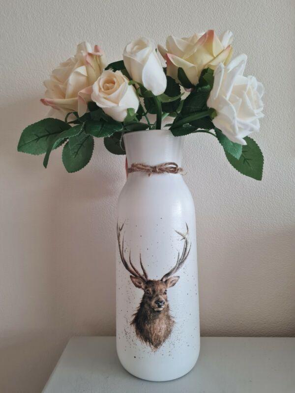 Wrendale+Stag+decoupage+vase+