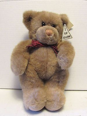 Plush Moore Teddy Bear Peek A Boo Magnetic Paws Stuffed Play Animal Bow Mango