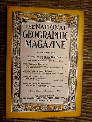 National Geographic- IN THE LONDON OF THE NEW QUEEN - SEPTEMBER 1953