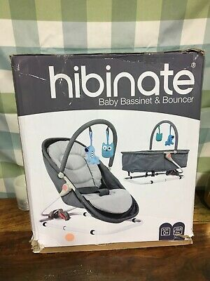 Hibinate 2-in-1 Cradle Bed for Infants, Babies, Newborns Bassinet to Bouncer
