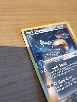 Dark Marowak 7/109 Rare Holo Swirl Galaxy EX Team Rocket Returns Pokemon Card LP