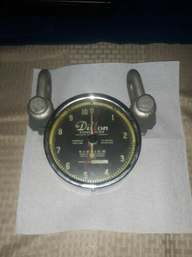 Dillon Dynamometer 1,000 Capacity 10 Pound Divisions With Case