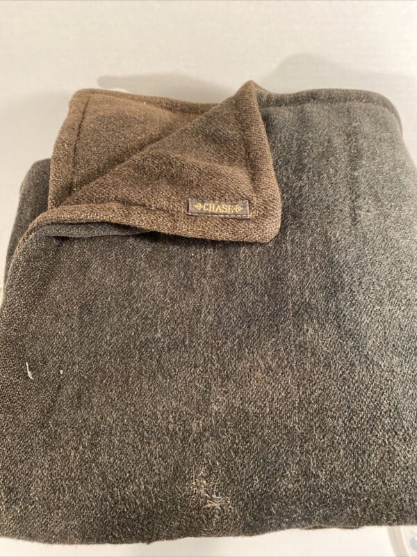 Antique CHASE Wool Mohair/Horsehair Buggy Carriage Lap Sleigh Blanket Vintage