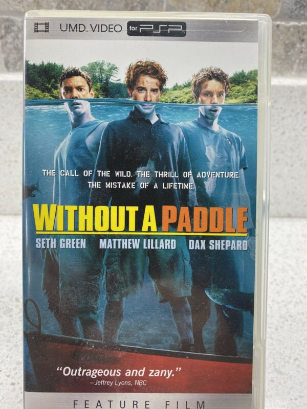 Without A Paddle UMD For PSP Very Good Condition Rare OOP MINT CLEAN