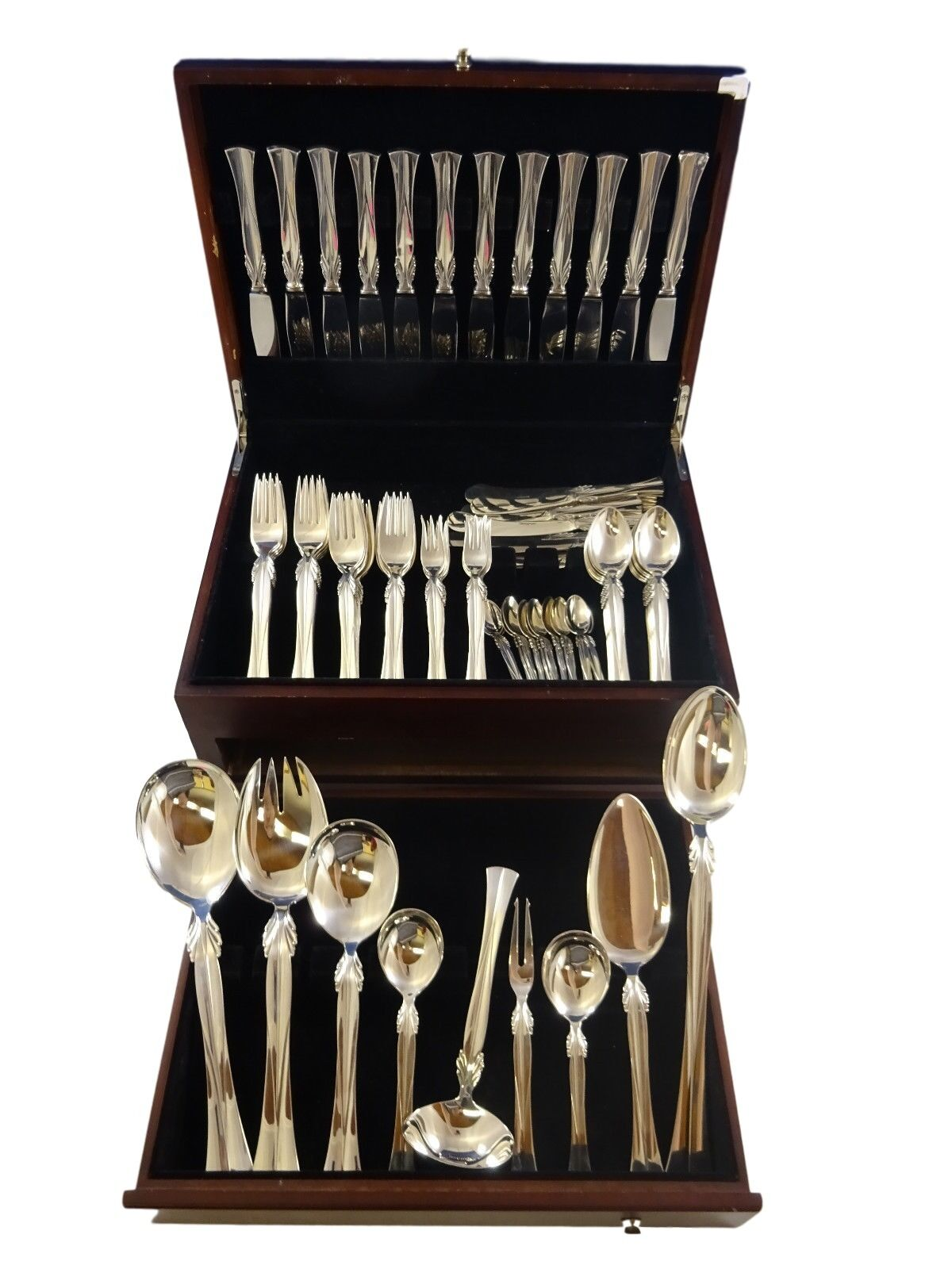 """Queen Christina by Frigast Sterling Silver Salad Set All Sterling 8 1//2/"""""""