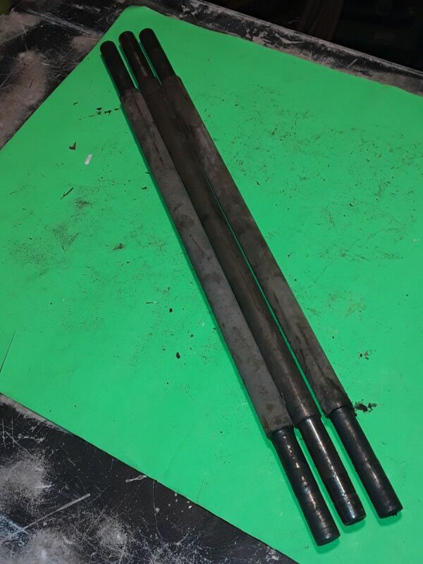 Lot of 3 original 27 inch lineberry factory cart axles