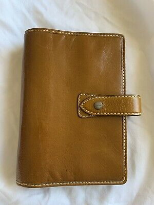 Filofax Malden Personal Ochre Leather Excellent Used Condition