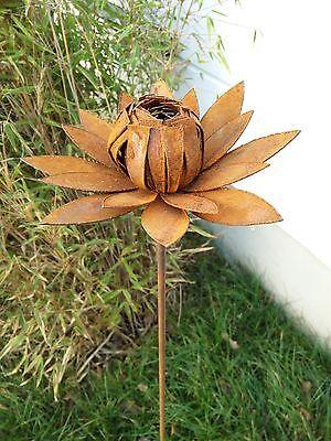 Edelrost GartenBlumen Rost Gartenstecker Blumen Beetstecker Gartendeko H115*25cm