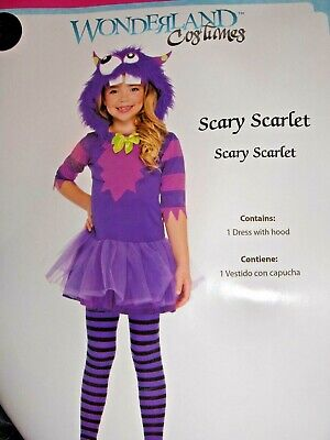 Scary Girls Costume (GIRL`S COSTUME SIZE SMALL ( 4 - 6 )  * SCARY SCARLET BY WONDERLAND*)