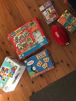 3-4yo puzzles/cards/toolbox