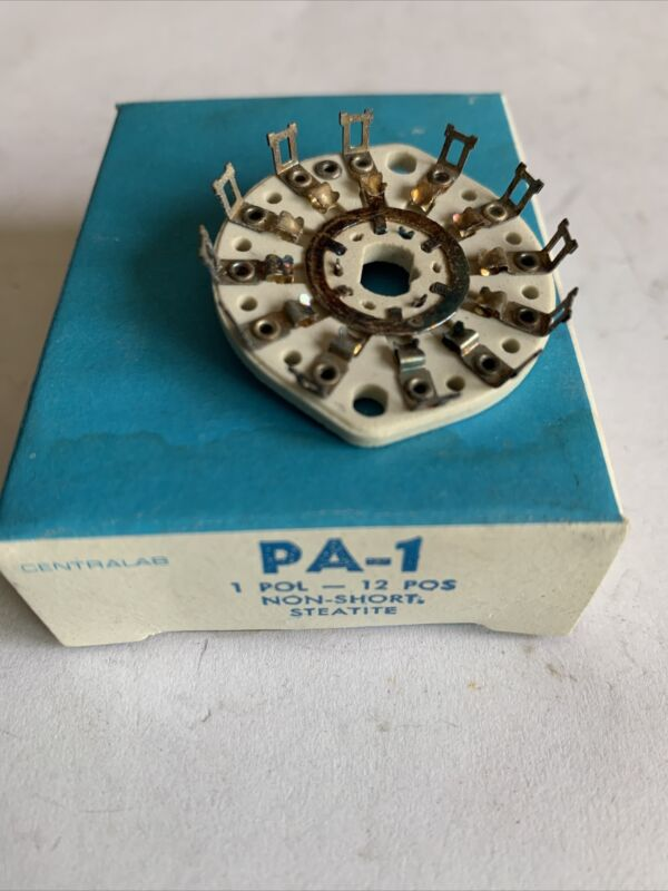 CENTRALAB Rotary Switch Platter Wafer Deck Ceramic PA-1   1 POL 12 POS NON-SHORT