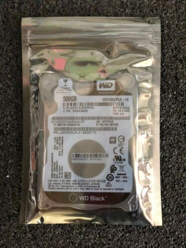 WD Black 500GB Internal SATA Hard Drive for Laptops WD5000LPLXSP