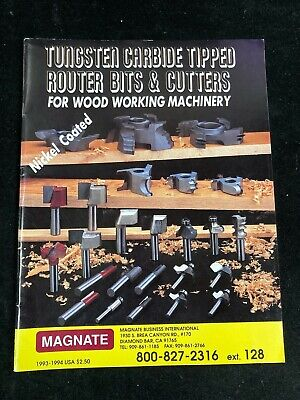 Magante Catalog 1993-1994 Router Bits Cutters For Woodworking