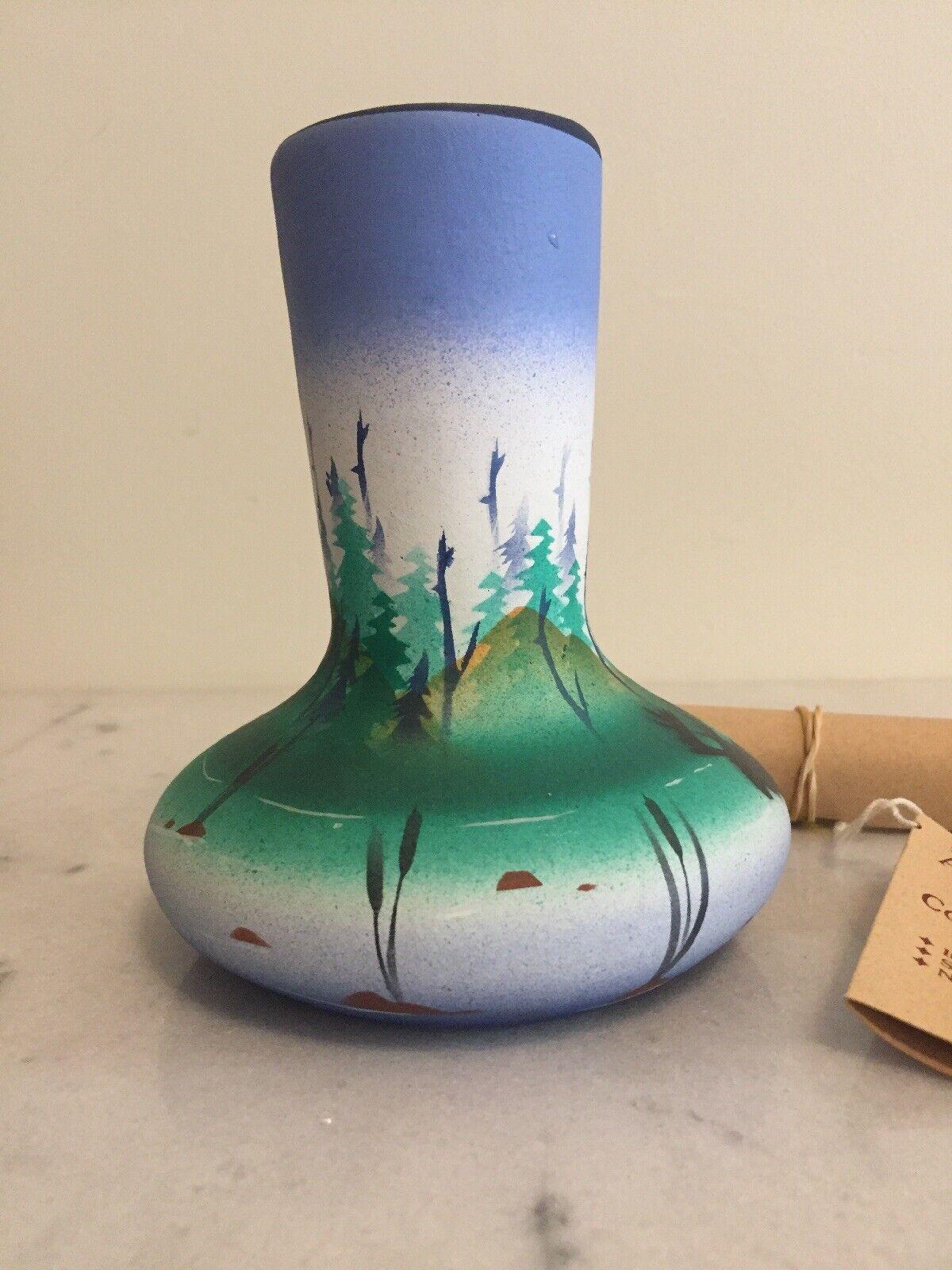 American Art Pottery Vase American Wild Collection R.W. Adamson 5 1/4 Tall - $13.99