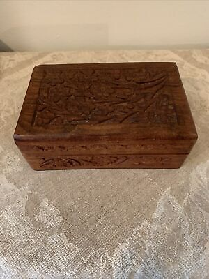Jewellery Box in Antique Pine Effect Personalise gift for a loved one. Heart Shaped Trinket Wood burnt quote You Make My Heart Smile