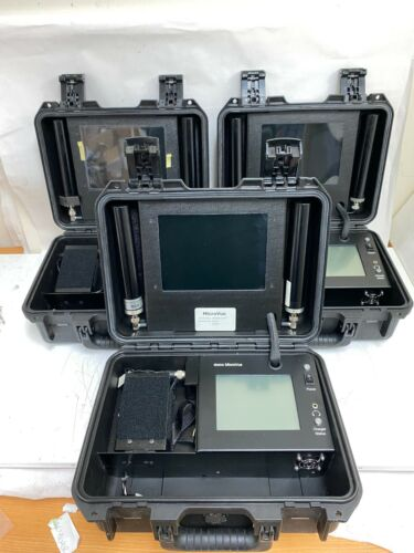 Lot of 3 Cobham MicroVue Tactical Receiver Video Surveillance System