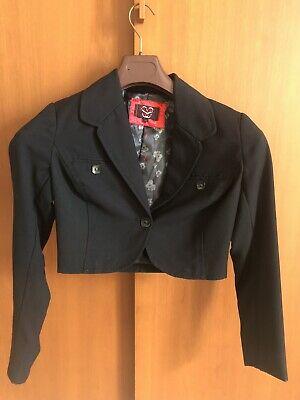Giacca nera elegante corta maniche lunghe - Black Jacket - Jaquette Noire