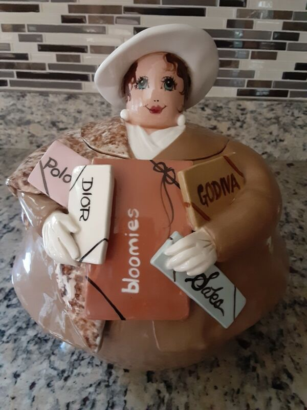 Kay Steindorf Cookie Jar Original Female Shopper 1996 EXCELLENT Condition