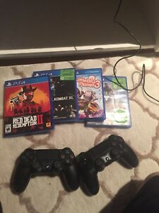 Ps4 500gb 2 controllers red dead redemption 2 and more