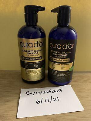 PURA D'OR Dor Advanced Therapy System Shampoo & Conditioner