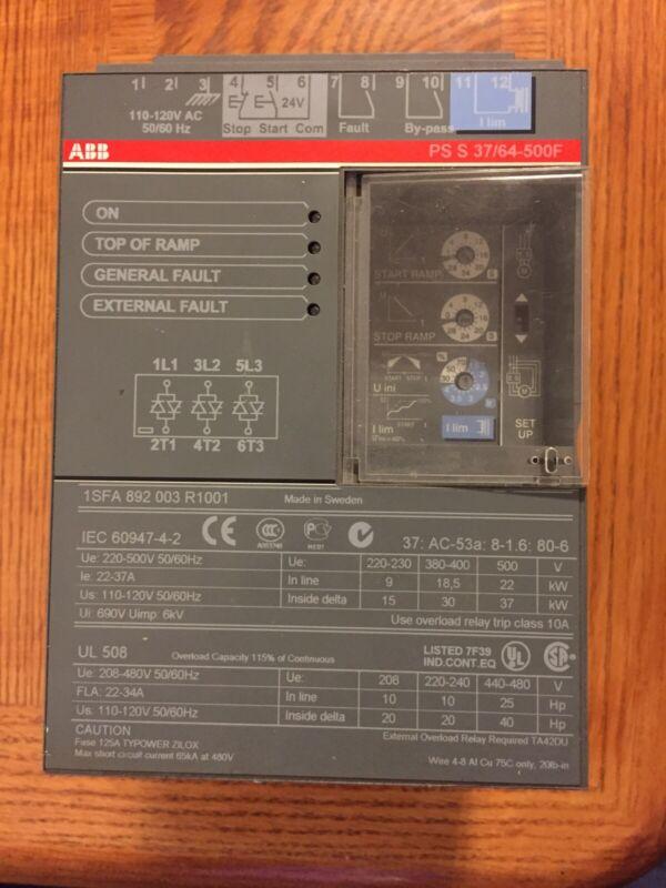 ABB PSS30 52 500F Soft Start Motor Controller  110/120V 10-30 Amp PS S 30/52