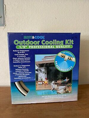 "MIST&COOL Outdoor Cooling Kit 1/2"" Professional Quality"
