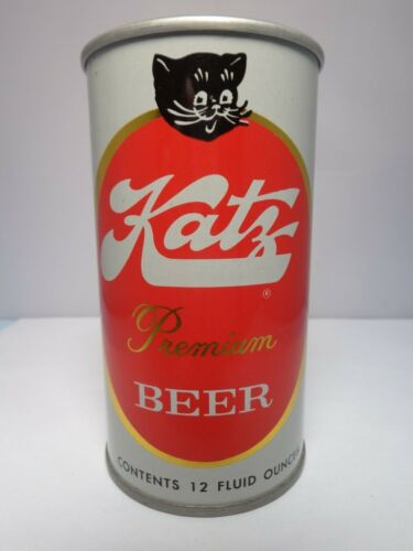 KATZ PREMIUM STRAIGHT STEEL PULL TAB BEER CAN #84-8 ASSOCIATED BRG. CHICAGO, IL.