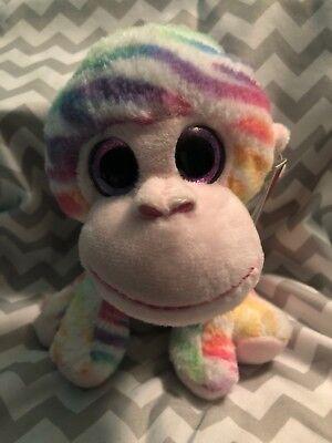 Rainbow Monkey Holiday Time Plush Stiffed Animal  Christmas Gift  - Rainbow Monkey Plush