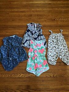 Girls 6 mo summer dresses and jumpers