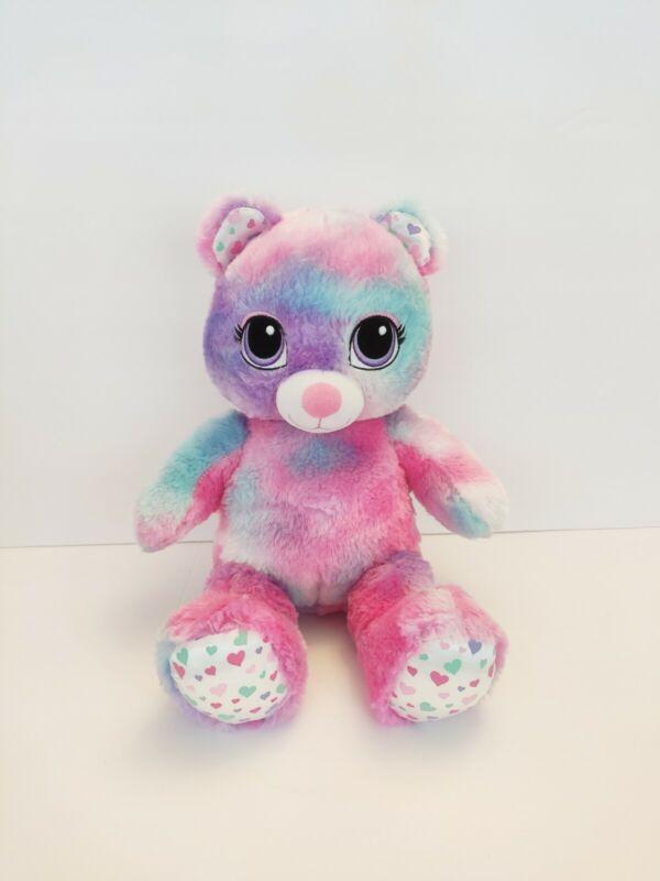 """Build A Bear Cotton Candy Pastel Tye Dye Plush Stuffed Animal 16"""" Gorgeous"""